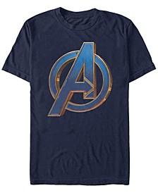 Men's Avengers Bold Blue Avengers Logo Short Sleeve T-Shirt
