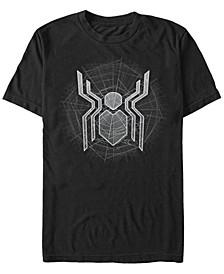 Men's Spider-Man Webbed Spider-Man Logo Short Sleeve T-Shirt