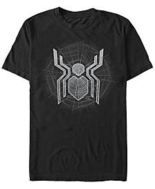 Marvel Men's Spider-Man Webbed Spider-Man Logo Short Sleeve T-Shirt