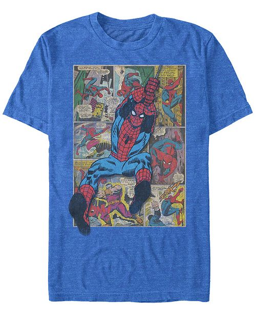 Marvel Men's Comic Collection Classic Spider-Man Swinging Short Sleeve T-Shirt
