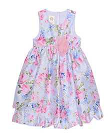 Laura Ashley London Girl's Sleeveless Floral Print Party Dress