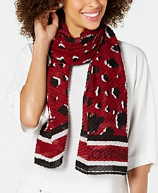 Leopard Pleated Scarf