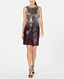 Ombré Sequin Sheath Dress