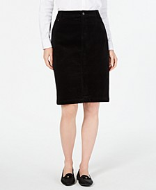 Corduroy Tummy-Control Skirt, Created for Macy's
