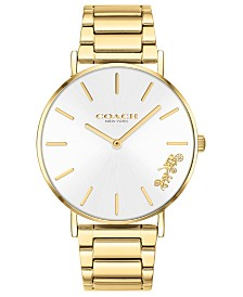 COACH Women's Perry Gold-Tone Stainless Steel Bracelet Watch 36mm