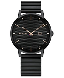 Men's Black Stainless Steel Bracelet Watch 40mm, Created for Macy's