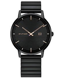 Men's Black Stainless Steel Bracelet Watch 40mm, Created For Macy's