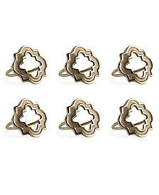 Design Imports Lattice Napkin Ring Set of 6
