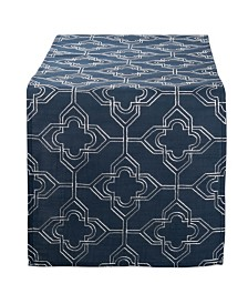 Design Imports Embroidered Lattice Table Runner