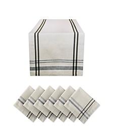 Stripe Tablecloth Set of 7