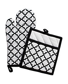 Design Imports Lattice Oven Mitt Potholder Set