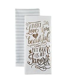 Love Story Printed Dishtowel Set of 2
