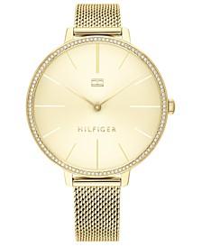 Women's Gold-Tone Mesh Bracelet Watch 38mm, Created for Macy's