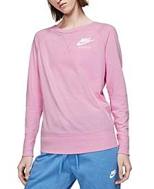 Women's Sportswear Gym Vintage Crew Sweatshirt