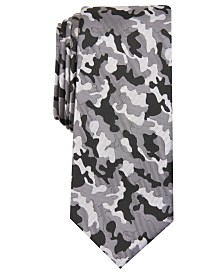 I.N.C. Men's Skinny Camouflage Tie, Created for Macy's