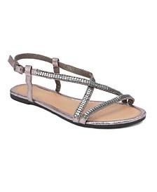 Olivia Miller Treasure Multi Rhinestone Studded Sandals
