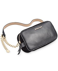 Pebble Leather Belt Bag With Chain Strap