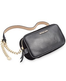 Michael Michael Kors Pebble Leather Belt Bag With Chain Strap