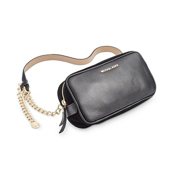 Michael Kors Pebble Leather Belt Bag With Chain Strap