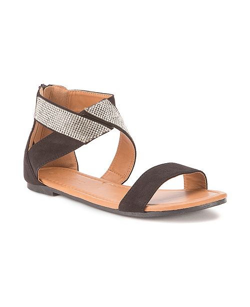 Olivia Miller Labelle Multi Rhinestone Strap Sandals