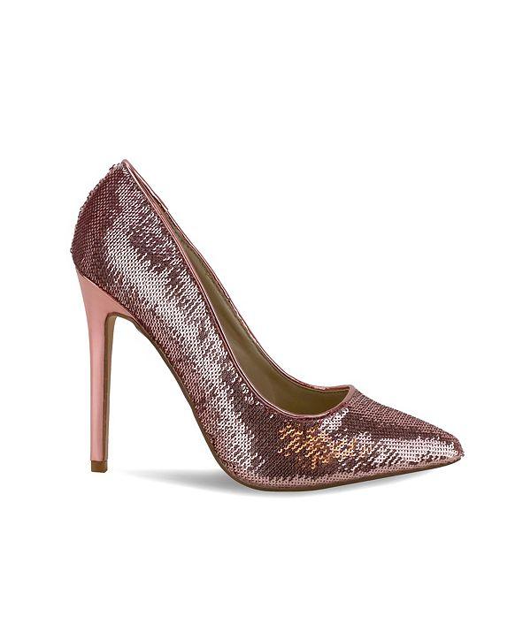 Olivia Miller Levittown All Over Sequin High Heel Pumps