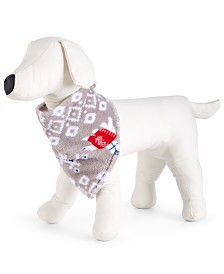 Matching Family Pajamas Polar Bear Pet Bandana, Created For Macy's