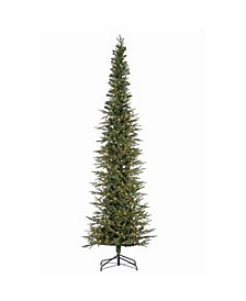 9Ft. Natural Cut Narrow Lincoln Pine with 450 Clear Lights