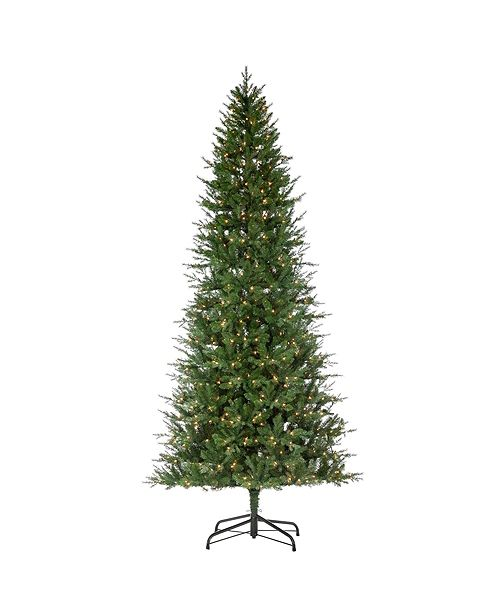 Sterling 12-Foot High Pre-Lit Natural Cut Manitoba Pine with Clear White Lights