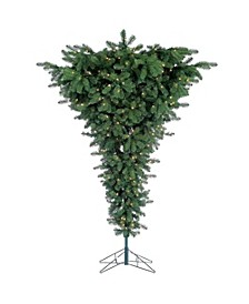 7.5Ft Pre-Lit Upside Down Floor Tree with 600 clear lights