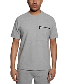 Sean John Men's Ribbed Zip-Pocket Shirt