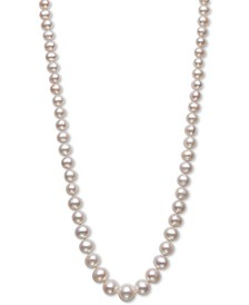 "Cultured Freshwater Pearl (5-10mm) Graduated 18"" Strand Necklace in 14k Gold, Created for Macy's"