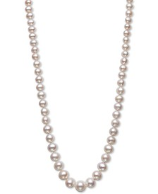 "Belle de Mer Cultured Freshwater Pearl (5-10mm) Graduated 18"" Strand Necklace in 14k Gold, Created for Macy's"