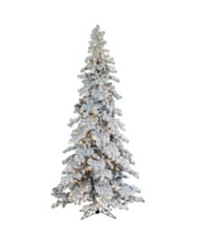 Sterling 9Ft. Heavily Flocked Layered Spruce with 750 clear lights