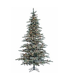 7.5Ft. Lightly Flocked McKinley Pine with 650 clear lights