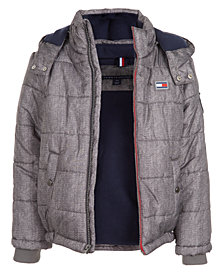 Tommy Hilfiger Little Boys Detachable Hood Puffer Jacket