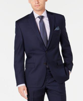 Men's Slim-Fit UltraFlex Stretch Navy Solid Suit Separate Jacket
