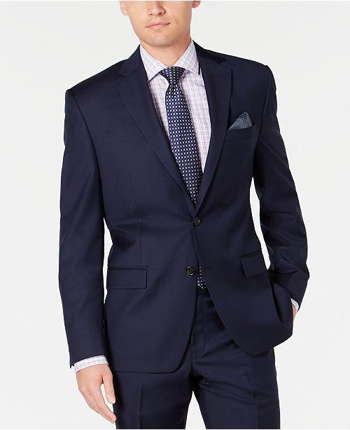Lauren Ralph Lauren Men's Slim-Fit UltraFlex Stretch Navy Solid Suit Separate Jacket