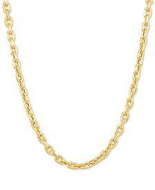"Rolo Link 22"" Chain Necklace in 10k Gold"