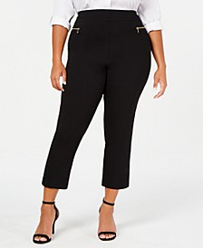 INC Plus Size O-Ring Skinny Ankle Pants, Created for Macy's