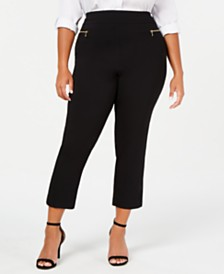 I.N.C. Plus Size O-Ring Skinny Ankle Pants, Created for Macy's