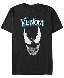 Marvel Men's Classic Venom Big Face Short Sleeve T-Shirt