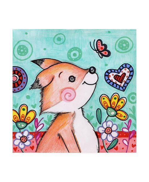 "Trademark Global Valarie Wade Foxy friend Canvas Art - 15.5"" x 21"""