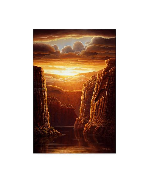 "Trademark Global R W Hedge Warm Reflections Canvas Art - 36.5"" x 48"""