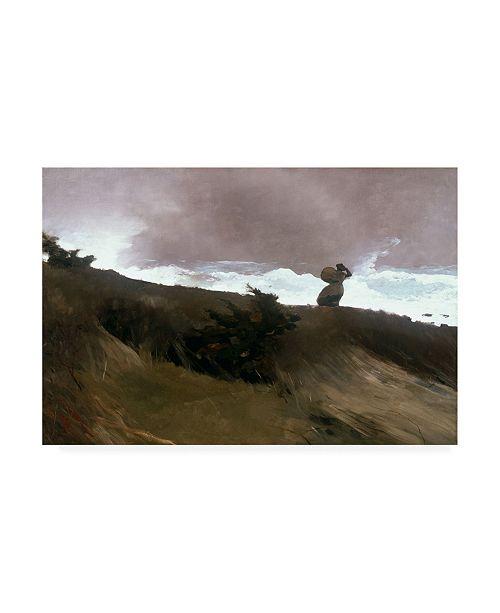 "Trademark Global Winslow Homer The West Wind Canvas Art - 27"" x 33.5"""