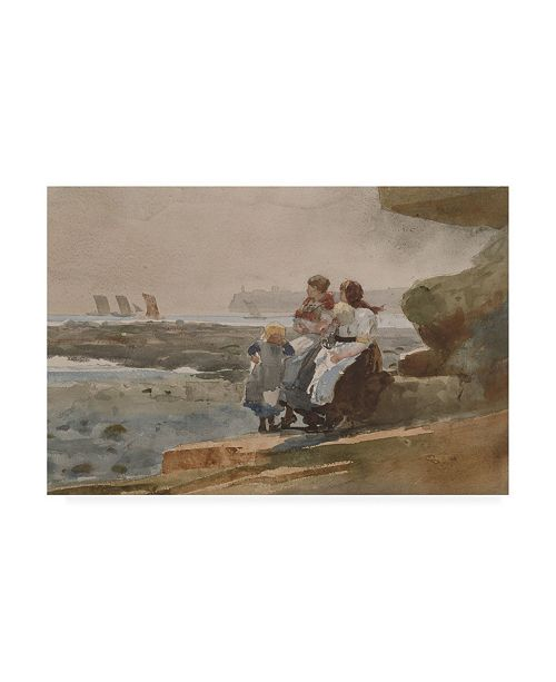"Trademark Global Winslow Homer Under the Cliff, Cullercoats Canvas Art - 27"" x 33.5"""