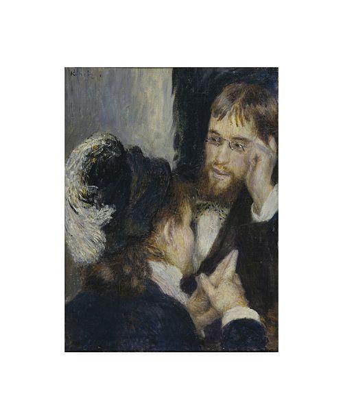 "Trademark Global Pierre Auguste Renoir Conversation with the Gardener Canvas Art - 36.5"" x 48"""