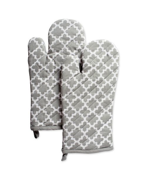 Design Import Lattice Oven Mitt Set of 2