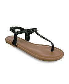 Olivia Miller Melbourne Multi Rhinestone Sandals