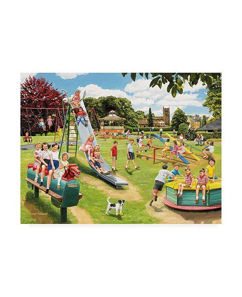 "Trademark Global Trevor Mitchell The Park Playground Canvas Art - 19.5"" x 26"""