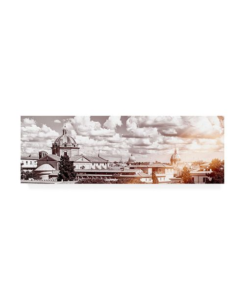 "Trademark Global Philippe Hugonnard Dolce Vita Rome 2 View of Rome VII Canvas Art - 19.5"" x 26"""
